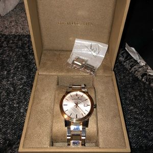 Burberry two tone Unisex watch